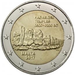 Malta 2017 - 2 euro commemorativo 2° moneta della serie dedicata ai siti preistorici maltesi.
