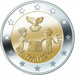 Malta 2017 - 2 euro commemorativo 2° moneta della serie 'Dai Bambini con Solidarietà'