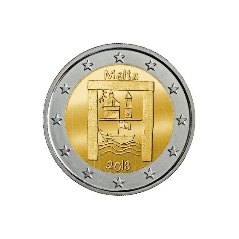 Malta 2018 - 2 euro commemorativo 3° moneta della serie 'Dai Bambini con Solidarietà'