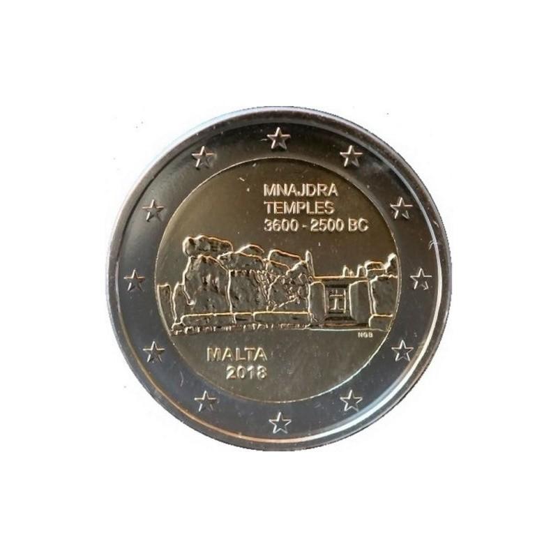 Malta 2018 - 2 euro commemorativo 3° moneta della serie dedicata ai siti preistorici maltesi.