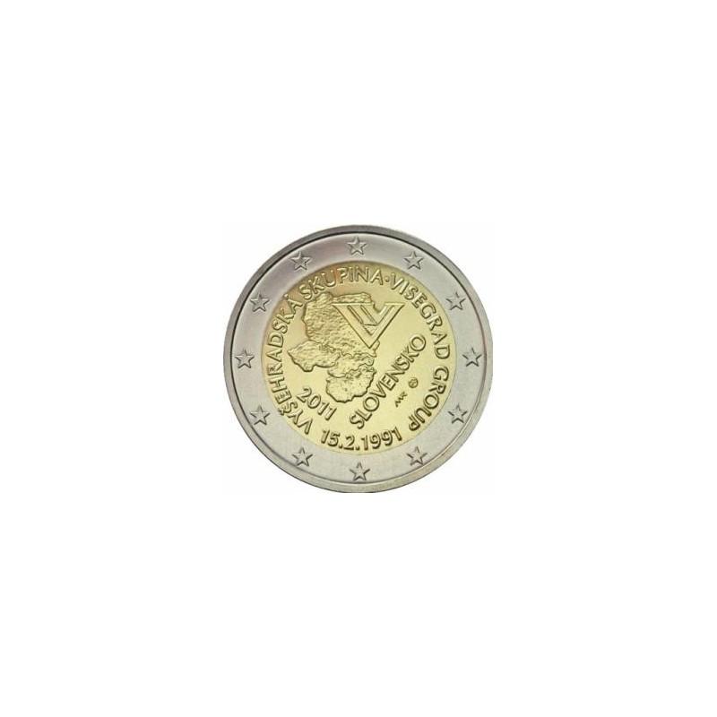 Slovacchia 2011 - 2 euro commemorativo 20° anniversario del gruppo di Visegrad.