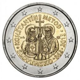 Slovacchia 2013 - 2 euro commemorativo 1150° anniversario dell'avvento di Cirillo e Metodio nella Moravia.