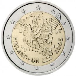 Finlandia 2005 - 2 euro commemorativo 60° delle Nazioni Unite e del 50° dell'ingresso della Finlandia all'ONU.