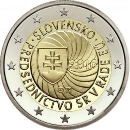 Slovacchia 2016 - 2 euro commemorativo presidenza del Consiglio dell'Unione europea della Slovacchia.