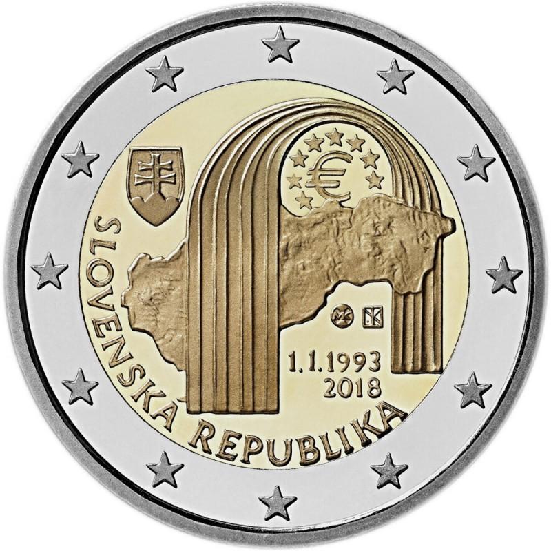 Slovacchia 2018 - 2 euro commemorativo 25° anniversario della Repubblica Slovacca.
