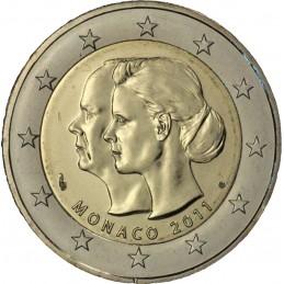 Monaco 2011 - 2 euro commemorativo matrimonio del principe Alberto II di Monaco con Charlene Wittstock.