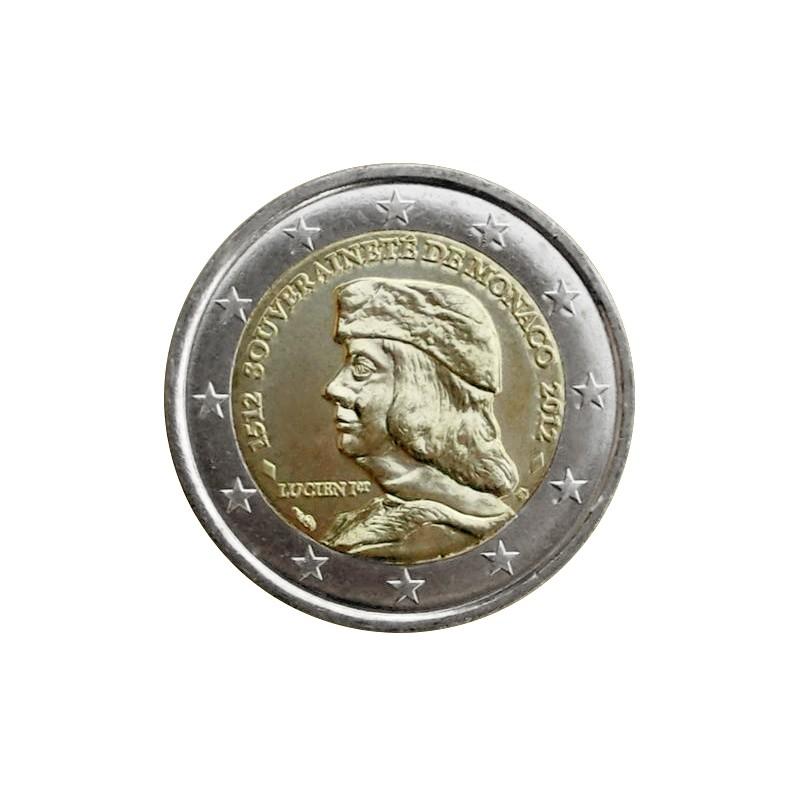 Monaco 2012 - 2 euro commemorativo 500° anniversario della fondazione della Sovranità di Monaco.