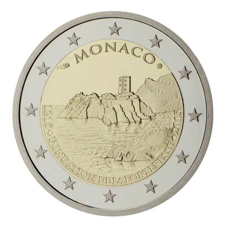 Monaco 2015 - 2 euro commemorativo 800° anniversario della costruzione del primo castello costruito sulla rocca.