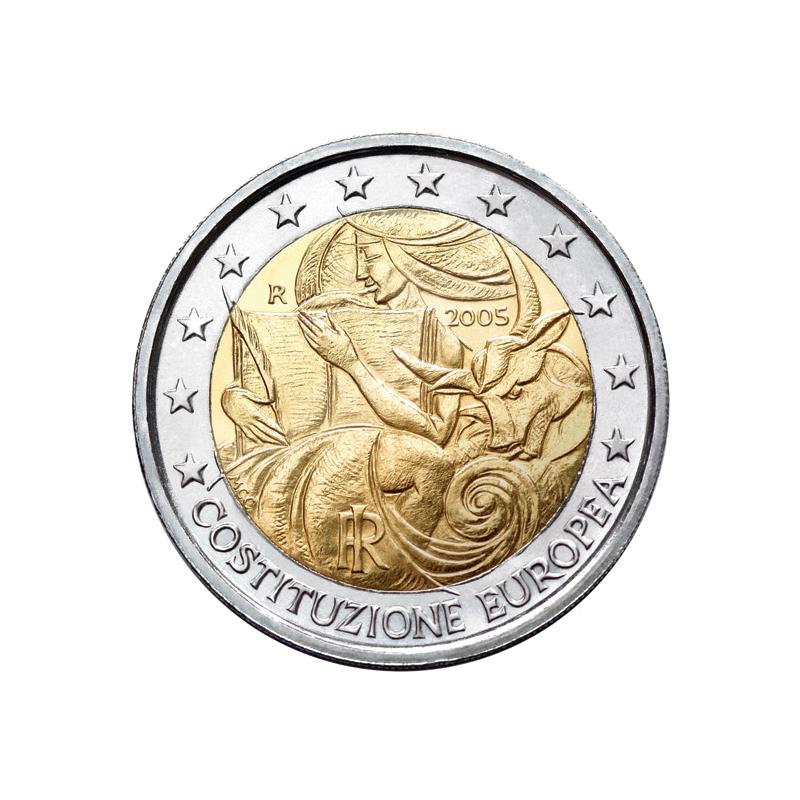 Italia 2005 - 2 euro commemorativo 1° anniversario delle firme della Costituzione europea.