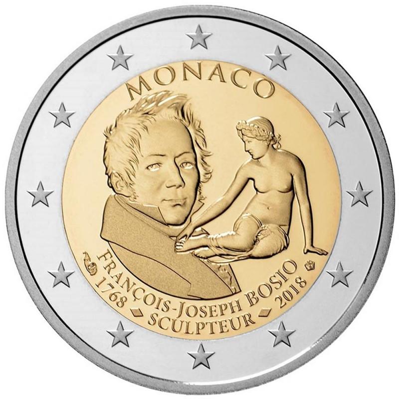 Monaco 2018 - 2 euro commemorativo Francois Joseph Bosio (1768 - 1845), scultore francese.