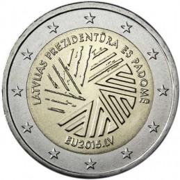 Lettonia 2015 - 2 euro commemorativo presidenza del Consiglio dell'Unione europea della Lettonia.