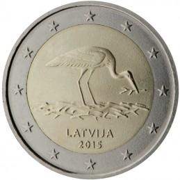 Lettonia 2015 - 2 euro commemorativo cicogna nera.