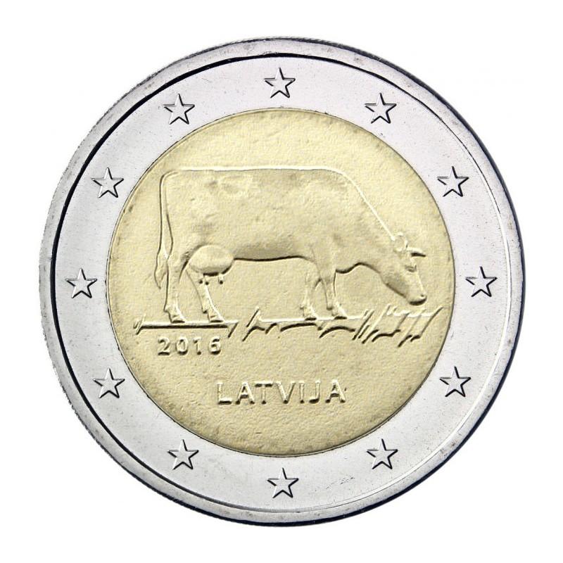 Lettonia 2016 - 2 euro commemorativo la mucca.