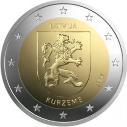 Lettonie 2017 - Pièce commémorative de 2 euros 2ème de la série dédiée aux Régions de Lettonie.