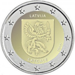 Latvia 2017 - 2 euro commemorative coin 3rd in the series dedicated to the Regions of Latvia.