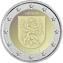 Lettonie 2017 - Pièce commémorative de 2 euros 3ème de la série dédiée aux Régions de Lettonie.