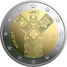 Lettonia 2018 - 2 euro commemorativo 100° anniversario della fondazione di Lituania, Lettonia ed Estonia.