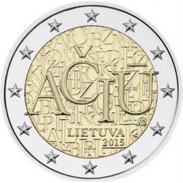 Lituania 2015 - 2 euro commemorativo lingua lituana, Aciu - Grazie