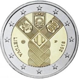 Lituania 2018 - 2 euro commemorativo 100° anniversario della fondazione di Lituania, Lettonia ed Estonia.