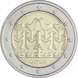 Lituania 2018 - 2 euro commemorativo festival della canzone e della danza lituana.