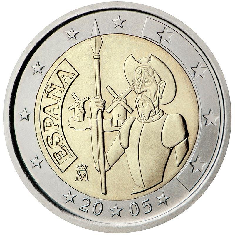 Spagna 2005 - 2 euro commemorativo 400° anniversario del romanzo Don Chisciotte di Miguel de Cervantes.