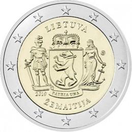 Lituanie 2019 - 2 euros Samogizie - Régions