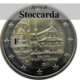 Germania 2013 - 2 euro commemorativo monastero di Maulbronn, 8° moneta dedicata ai Lander tedeschi - zecca di Stoccarda F
