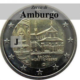 Germania 2013 - 2 euro commemorativo monastero di Maulbronn, 8° moneta dedicata ai Lander tedeschi - zecca di Amburgo J