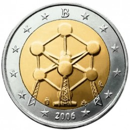 Belgio 2006 - 2 euro commemorativo restauro del monumento Atomo
