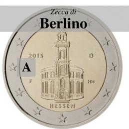 Germania 2015 - 2 euro commemorativo Paulskirche, 10° moneta della serie dedicata ai Lander tedeschi - zecca di Berlino A