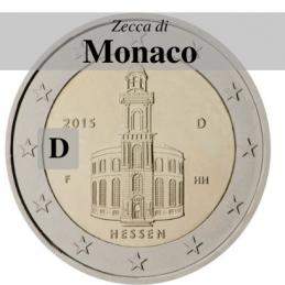 Germania 2015 - 2 euro commemorativo Paulskirche, 10° moneta della serie dedicata ai Lander tedeschi - zecca di Monaco D