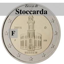 Germania 2015 - 2 euro commemorativo Paulskirche, 10° moneta della serie dedicata ai Lander tedeschi - zecca di Stoccarda F