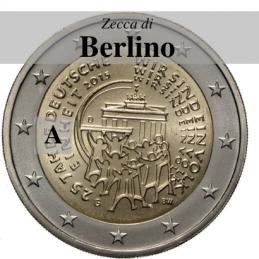 Germania 2015 - 2 euro commemorativo 25° anniversario della riunificazione tedesca - zecca di Berlino A