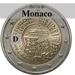 Germania 2015 - 2 euro commemorativo 25° anniversario della riunificazione tedesca - zecca di Monaco D