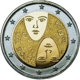 Finlandia 2006 - 2 euro commemorativo 100° anniversario della riforma del parlamento e del suffraggio universale.