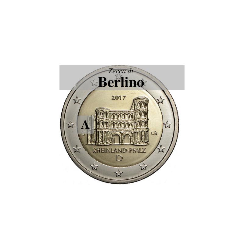 Germania 2017 - 2 euro commemorativo Porta Nigra a Treviri, 12° moneta dedicata ai Lander tedeschi - zecca di Berlino A
