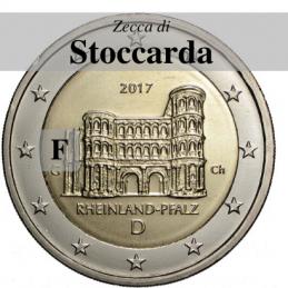 Germania 2017 - 2 euro commemorativo Porta Nigra a Treviri, 12° moneta  dedicata ai Lander tedeschi - zecca di Stoccarda F