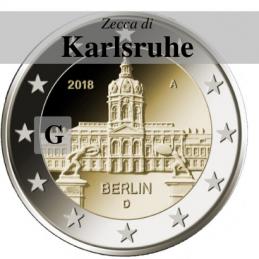 Germania 2018 - 2 euro commemorativo castello di Charlottenburg, 13° moneta dedicata ai Lander tedeschi - zecca di Karlsruhe G