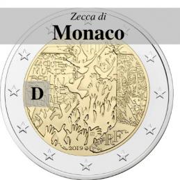 Germania 2019 - 2 euro commemorativo 30° anniversario della caduta del Muro di Berlino - zecca di Monaco D