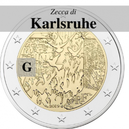Germania 2019 - 2 euro commemorativo 30° anniversario della caduta del Muro di Berlino - zecca di Karlsruhe G