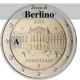 Germania 2019 - 2 euro commemorativo 70° anniversario del Bundesrat - zecca di Berlino A