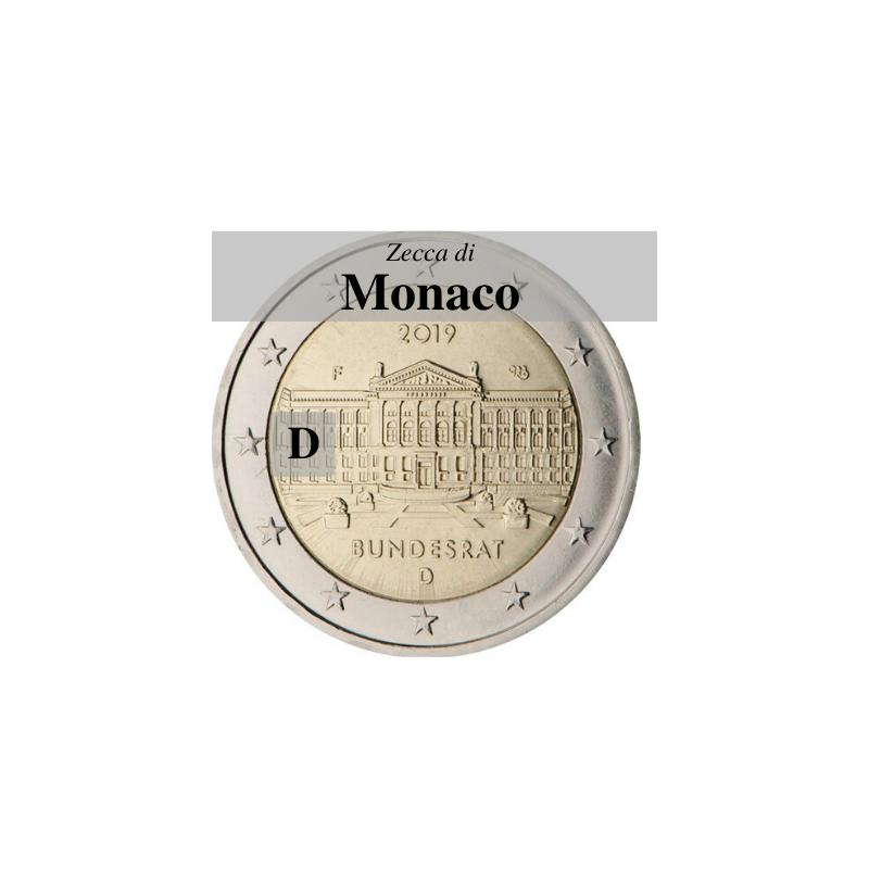 Germania 2019 - 2 euro commemorativo 70° anniversario del Bundesrat - zecca di Monaco D