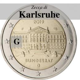 Germania 2019 - 2 euro commemorativo 70° anniversario del Bundesrat - zecca di Karlsruhe G