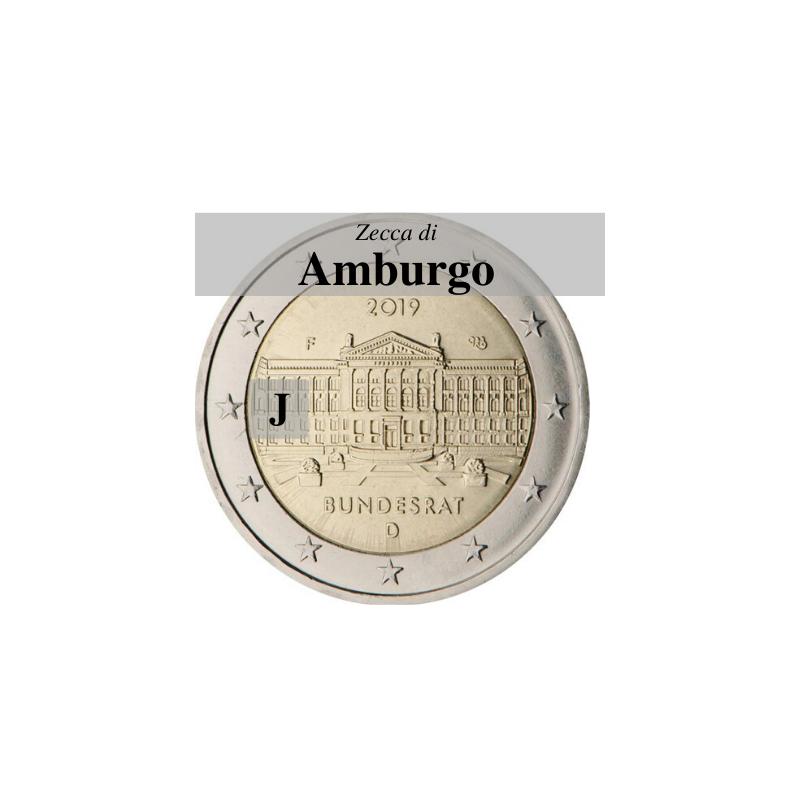 Germania 2019 - 2 euro commemorativo 70° anniversario del Bundesrat - zecca di Amburgo J