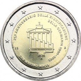 San Marino 2015 - 2 euro commemorativo 25° anniversario della riunificazione tedesca.