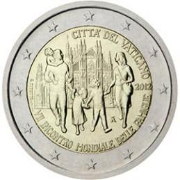 Vaticano 2012 - 2 euro commemorativo VII incontro Mondiale delle Famiglie.