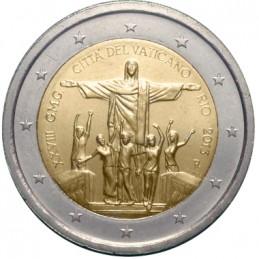 Vaticano 2013 - 2 euro commemorativo celebrazione della XXVIII giornata mondiale della gioventù a Rio.
