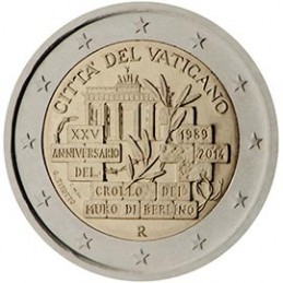 Vaticano 2014 - 2 euro commemorativo 25° anniversario della caduta del muro di Berlino.