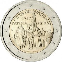 Vaticano 2017 - 2 euro commemorativo 100° anniversario delle apparizioni della Madonna di Fatima.