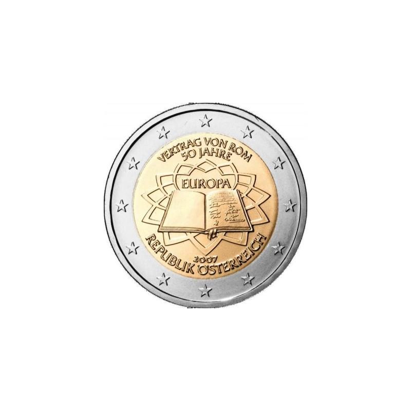 Austria 2007 - 2 euro commemorativo 50° anniversario della firma del Trattato di Roma.